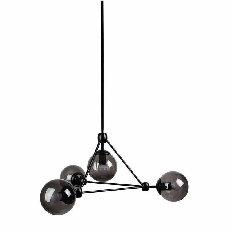 Lunar 4 Light Pendant in Matte Black - Crystal Palace Lighting