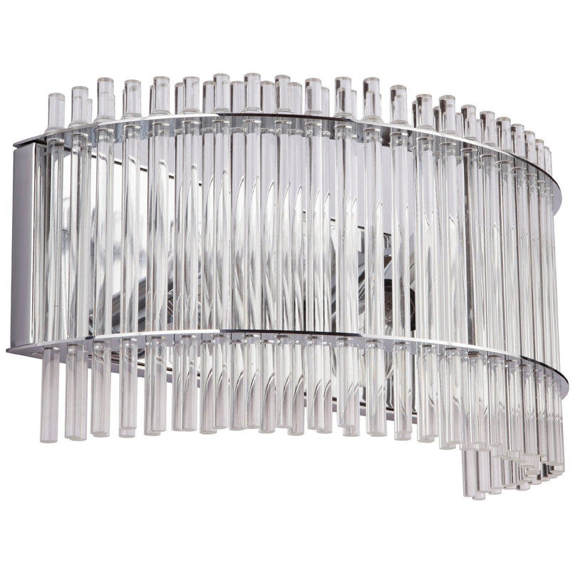 Stella 2 Light Wall Light in Chrome with Clear Crystals - Crystal Palace Lighting