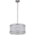 Stella 3 Light Pendant in Chrome with Clear Crystals - Crystal Palace Lighting