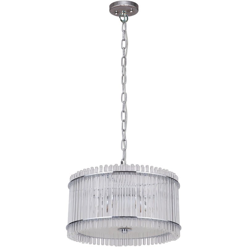 Stella 3 Light Pendant in Chrome with Clear Crystals - crystal-palace-lighting