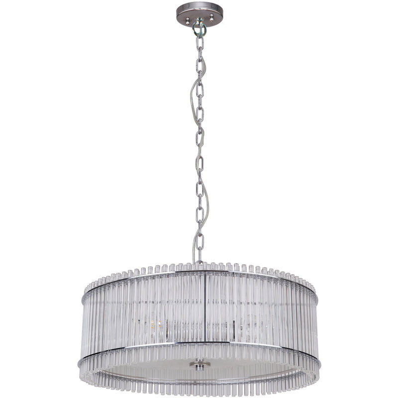 Stella 4 Light Pendant in Chrome with Clear Crystals - Crystal Palace Lighting