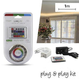 LED Plug & Play Strip Kit – 1m, 3m or 5m - Multicolour (RGB) - Crystal Palace Lighting