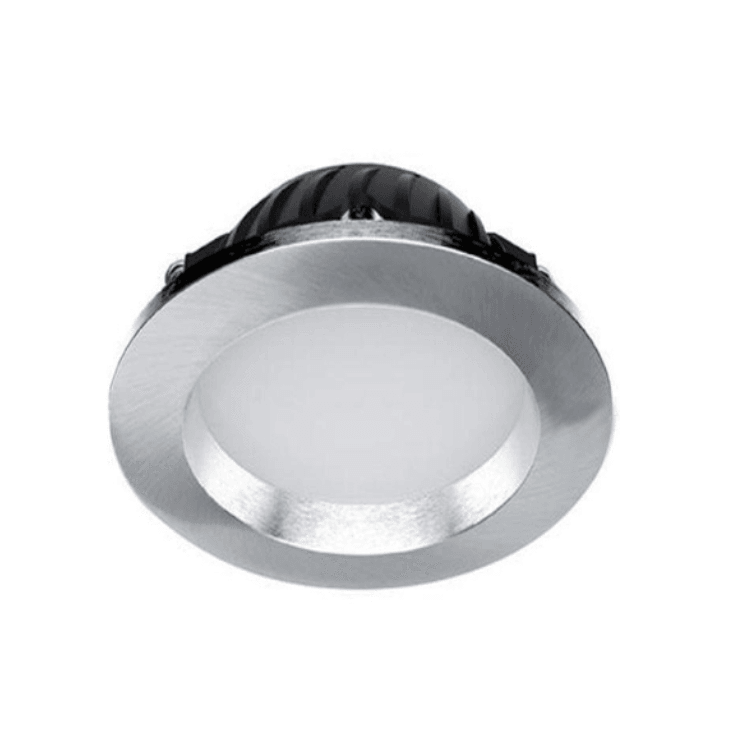 10W Dimmable Recessed, Cut Out Downlight, 70mm, White or Satin Chrome - Crystal Palace Lighting