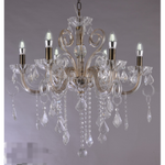 Stephanie Crystal Chandelier, Antique Brass, Four Sizes - Crystal Palace Lighting