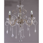 Marchand Stephanie Crystal Chandelier, Antique Brass, Four Sizes - crystal-palace-lighting