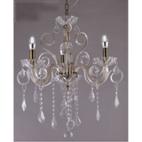 Marchand Stephanie Antique Brass Crystal Chandelier, Four Sizes - Crystal Palace Lighting