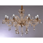 Marchand Amber 8 Crystal Chandelier - crystal-palace-lighting