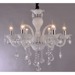Marchand 6 Light Lilly Crystal Chandelier - Crystal Palace Lighting