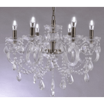 Marchand Charito Bronze 6 Light Crystal Chandelier with Clear Crystals - Crystal Palace Lighting
