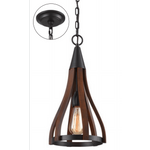 Khaleesi Wooden Pendant, 3 size options - Crystal Palace Lighting