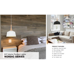 Nordic Pendant in White, 3 Size options - Crystal Palace Lighting