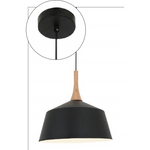 Nordic Pendant in Black, 3 Size Options