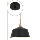 Nordic Pendant in Black, 3 Size Options - Crystal Palace Lighting