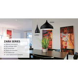 ZARA 2 Shapes and 5 Colour Options - Crystal Palace Lighting
