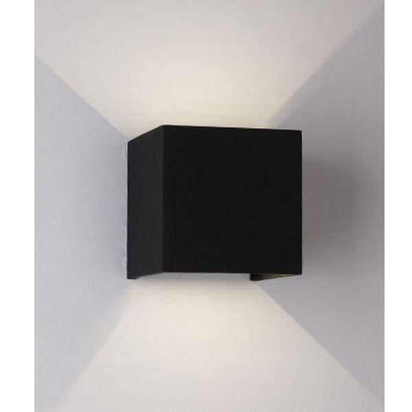 Cube Indoor/Outdoor Up/Down Wall Light - Crystal Palace Lighting