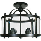 Vermont 4 Light Semiflush Lantern, 2 Colour Options - crystal-palace-lighting