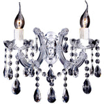 Zurich 2 Light Wall Bracket in Chrome and Clear - Crystal Palace Lighting