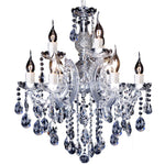 Zurich 9 Light Chandelier in Chrome and Clear - Crystal Palace Lighting