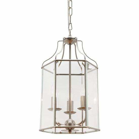 Arcadia 3 Light Pendant in Satin Chrome Silver - Crystal Palace Lighting
