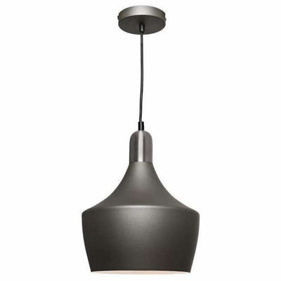 Bevo Pendant in Charcoal Grey and Satin Chrome - crystal-palace-lighting