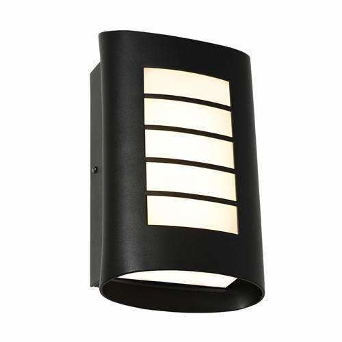 Bicheno Exterior Wall Light in Black - Crystal Palace Lighting