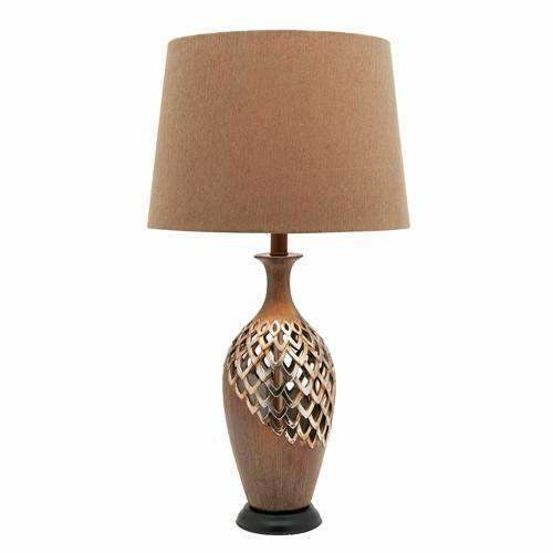 Blomeley Table Lamp in Antique Gold - Crystal Palace Lighting
