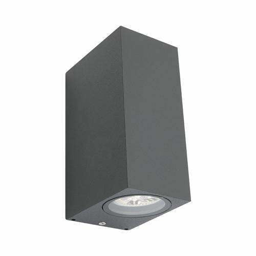 Brugge 2 Light Exterior LED Light in Charcoal Grey (Up+Down) - Crystal Palace Lighting