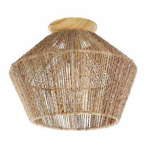Cassie Batten Fix Light, Maple Wood Finish with Natural Tan Thread - Crystal Palace Lighting