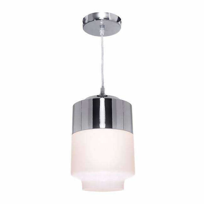 Charlie 1 Light Pendant in Chrome Silver - Crystal Palace Lighting