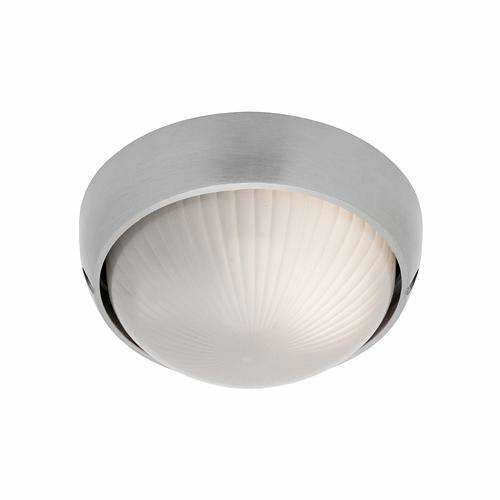 Coogee Round Flush Light in Aluminium Silver - Crystal Palace Lighting