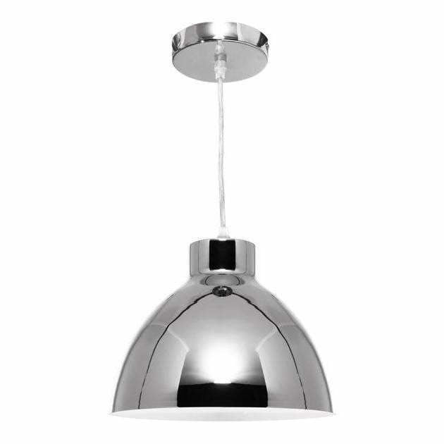 Dome Pendant in Chrome Silver - crystal-palace-lighting