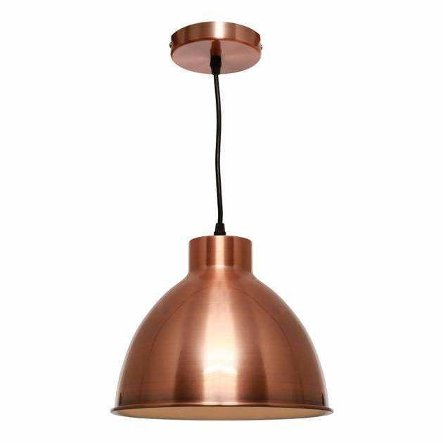 Dome Pendant in Brushed Copper - Crystal Palace Lighting