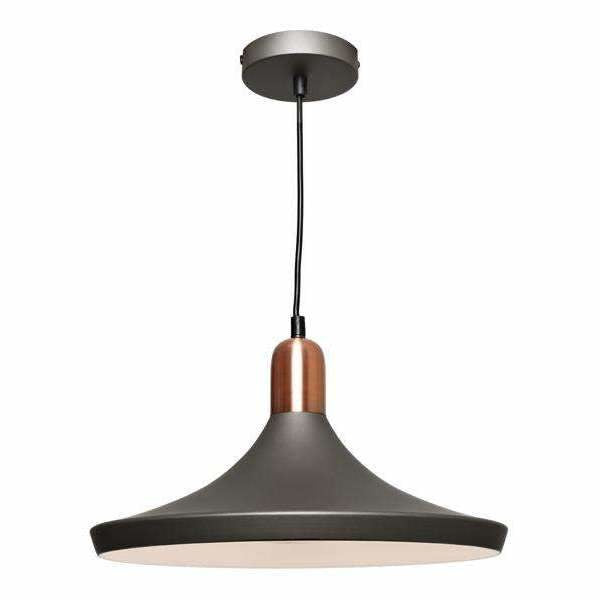 Dusty Pendant in Charcoal Grey with Copper Highlights - Crystal Palace Lighting