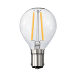 Fancy Round LED 3 Watt, Multiple Bases, Dimmable/Non Dimmable - Crystal Palace Lighting