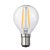 Fancy Round LED 3 Watt, Multiple Bases, Dimmable/Non Dimmable - crystal-palace-lighting