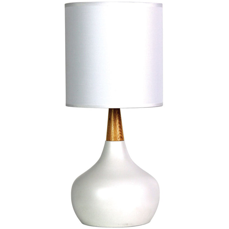 Pod Table Lamp in Matte White - Crystal Palace Lighting