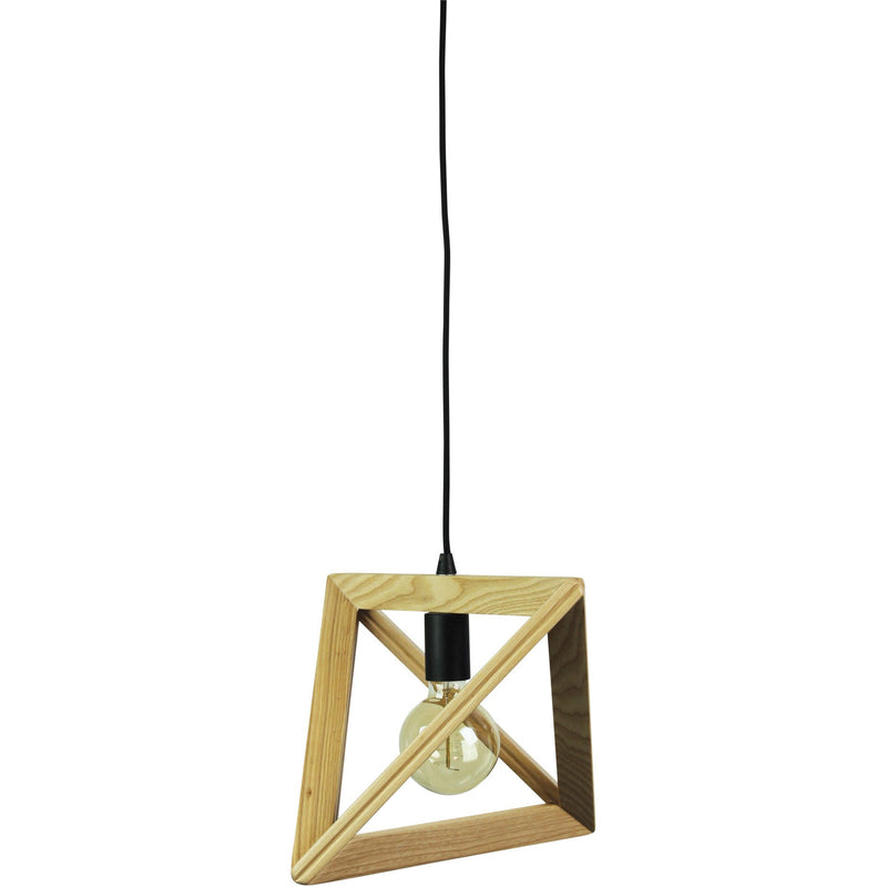 Trap II Pendant with Natural Wooden Finish - Crystal Palace Lighting