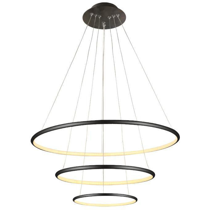 Slimline Ring Pendant Triple 40+60+80cm - crystal-palace-lighting