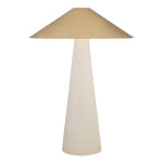 VISUAL COMFORT MIRAMAR TABLE LAMP WITH ANTIQUE-BURNISHED BRASS SHADE BY KELLY WEARSTLER - Crystal Palace Lighting