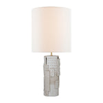 VISUAL COMFORT PASTICHE LARGE TABLE LAMP IN IVORY WITH LINEN SHADE BY KELLY WEARSTLER - Crystal Palace Lighting