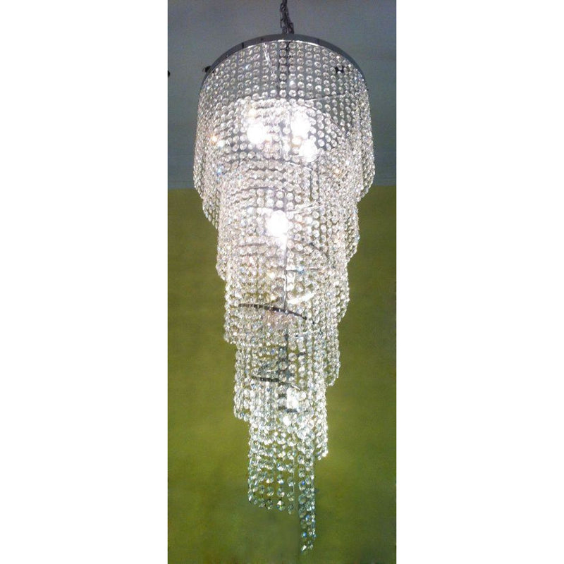 Spiral Teardrop Chandelier with Asfour Egyptian Crystals - Crystal Palace Lighting