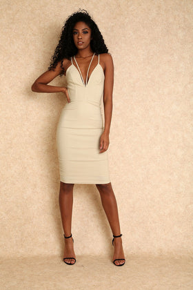 Iman Strapless Techno Maxi w/High Side Slit- Ivory