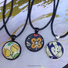 Load image into Gallery viewer, Liberty Fabric Pendants - Bumblebee Crafts