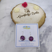 Load image into Gallery viewer, Polka Dot Glass Bead Drop Earrings