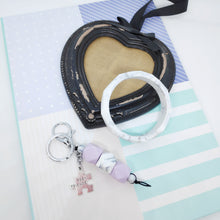 Load image into Gallery viewer, Best Friend Hexagon Silicone bead keyring
