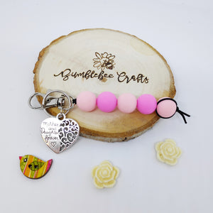 Mother's Day Round Bead Keyrings