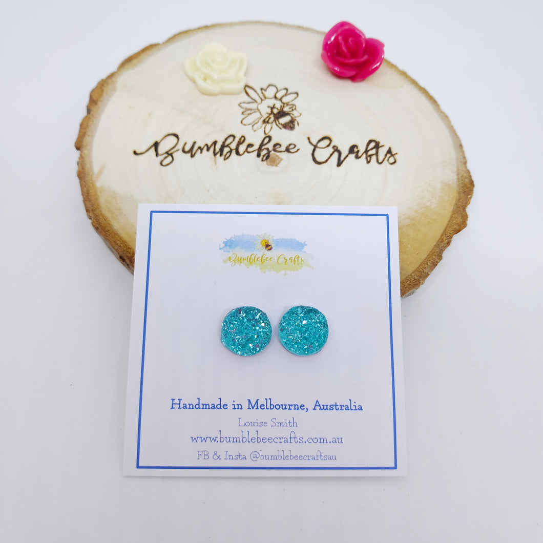 Sparkly Druzy Earrings
