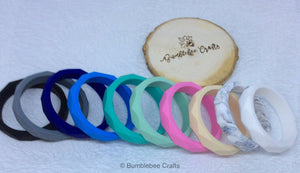 Geometric Moulded Silicone Bangles - Bumblebee Crafts