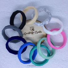 Load image into Gallery viewer, Geometric Moulded Silicone Bracelets/Bangles - Bumblebee Crafts