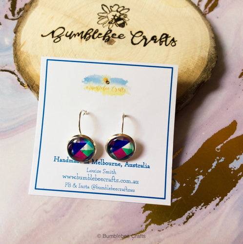 Geometric Glass Bead Earrings - Bumblebee Crafts